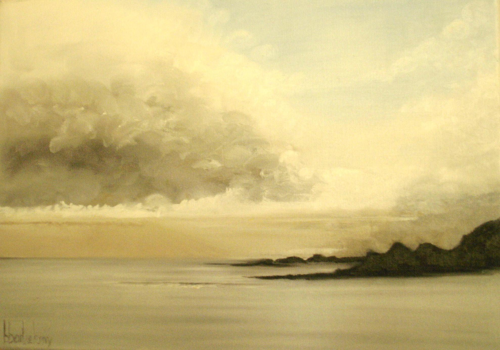 Ciel d'orage sur océan